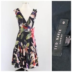Ted Baker Floral Ruffle Wrap Dress